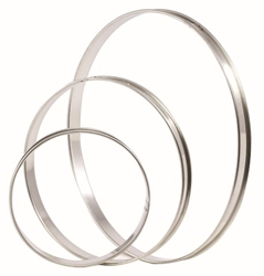 Matfer Plain Flan Ring Tin 180mm