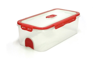 Pacnvac Standard Storage Container Straight Sided GN1/3 Red