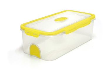 Pacnvac Standard Storage Container Straight Sided GN 1/3 Yellow