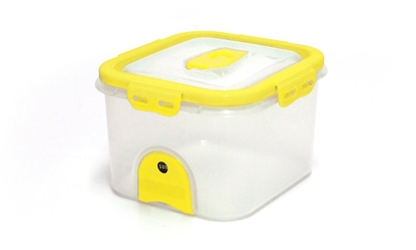 Pacnvac Standard Storage Container Straight Sided GN1/6 Yellow