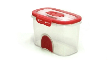 Pacnvac Standard Storage Container Straight Sided GN 1/9 Red