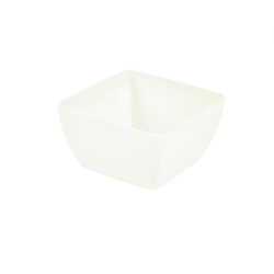 White Melamine Curved Square Bowl 15cm (Each) White, Melamine, Curved, Square, Bowl, 15cm, Nevilles