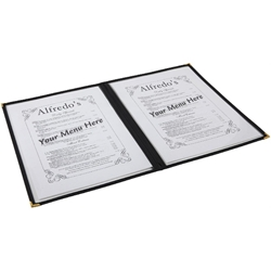 American Style Clear Menu Holder - 2 Page (Each) American, Style, Clear, Menu, Holder, 2, Page, Nevilles
