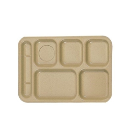368mm x 254mm / 14 1/2? x 10? Left Hand 6 Compartment Tray, Sand