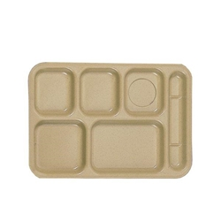 368mm x 254mm / 14 1/2? x 10? Right Hand 6 Compartment Tray, Sand