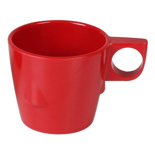 7 oz, 3 1/4? / 80mm Stacking Cup, Pure Red (12 Pack)