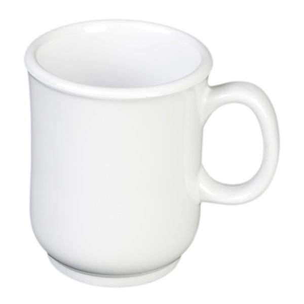 8 oz, 3? / 75mm Bulbous Mug, White