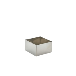 Stainless Steel Square Mousse Ring 6x3.5cm (Each) Stainless, Steel, Square, Mousse, Ring, 6x3.5cm, Nevilles