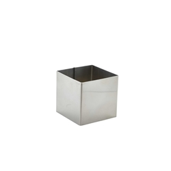 Stainless Steel Square Mousse Ring 6x6cm (Each) Stainless, Steel, Square, Mousse, Ring, 6x6cm, Nevilles
