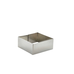 Stainless Steel Square Mousse Ring 8x3.5cm (Each) Stainless, Steel, Square, Mousse, Ring, 8x3.5cm, Nevilles
