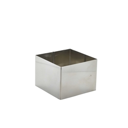Stainless Steel Square Mousse Ring 8x6cm (Each) Stainless, Steel, Square, Mousse, Ring, 8x6cm, Nevilles