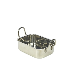 Mini Stainless Steel Roaster 13x10x4.3cm (Each) Mini, Stainless, Steel, Roaster, 13x10x4.3cm, Nevilles