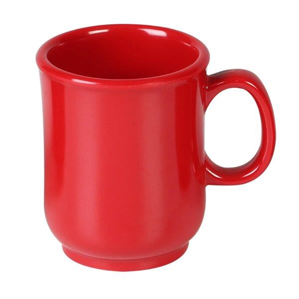 8 oz, 3? / 75mm Bulbous Mug, Pure Red (12 Pack)