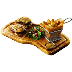 Olive Wood Serving Board W/ Groove 40X21cm (Each) Olive, Wood, Serving, Board, W/, Groove, 40X21cm, Nevilles