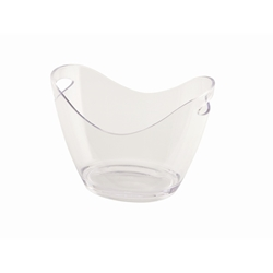 Clear Plastic Champagne/Wine Bucket Small (Each) Clear, Plastic, Champagne/Wine, Bucket, Small, Nevilles