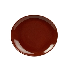 Terra Stoneware Rustic Red Oval Plate 21x19cm (12 Pack) Terra, Stoneware, Rustic, Red, Oval, Plate, 21x19cm, Nevilles