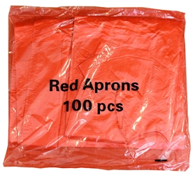 Economy Flat Pack Aprons - Red