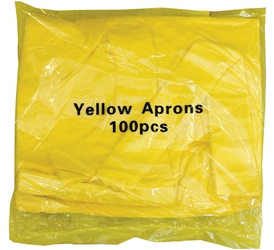 Economy Flat Pack Aprons - Yellow