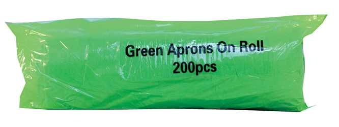 Economy Aprons on a Roll - Green