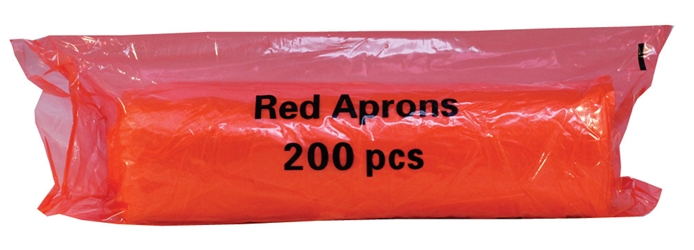 Economy Aprons on a Roll - Red