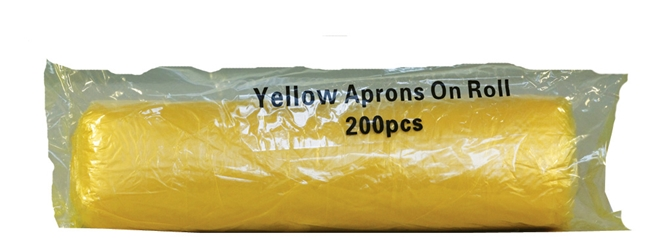 Economy Aprons on a Roll - Yellow