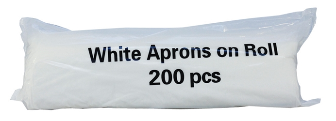 Premium Aprons on a Roll - White