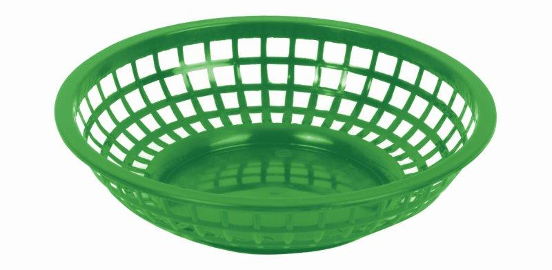 203mm / 8 Round Basket, Green