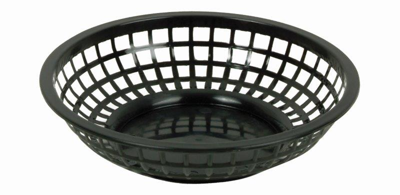 203mm / 8 Round Basket, Black