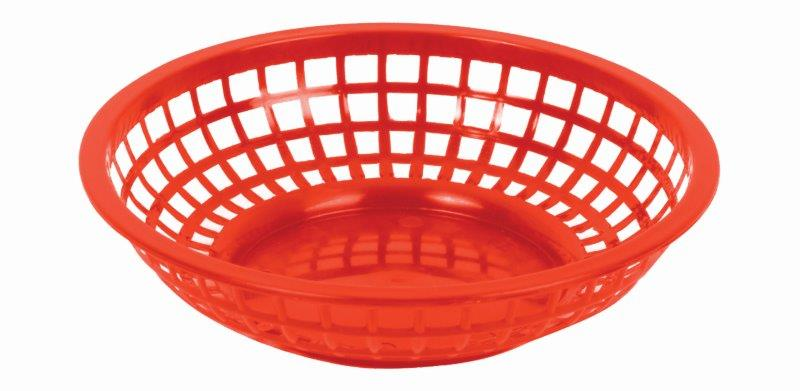 203mm / 8 Round Basket, Red