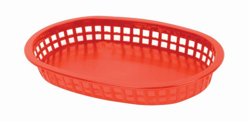 273mm / 10 3/4? Oblong Basket, Red