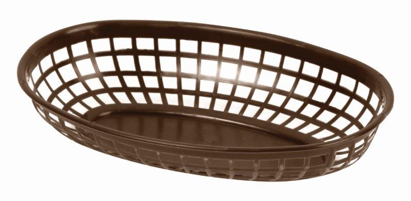 237mm / 9 3/8? Oval Basket, Brown