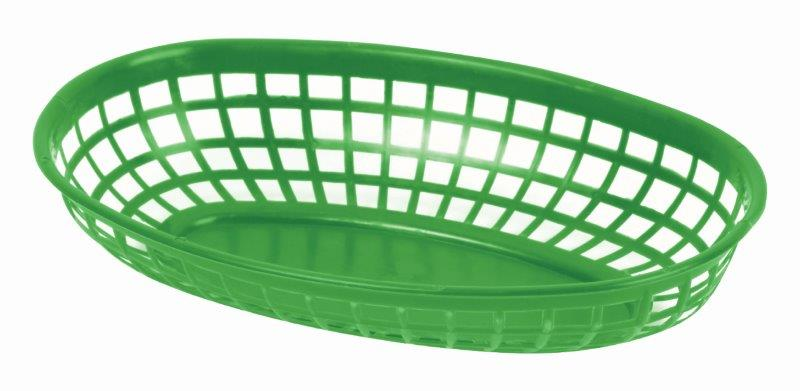 237mm / 9 3/8? Oval Basket, Green