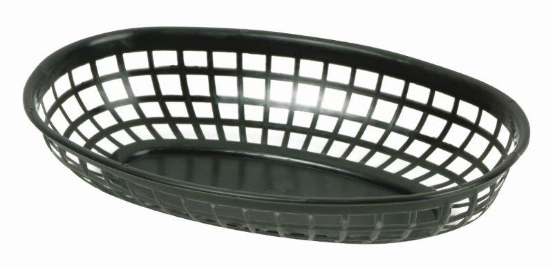 237mm / 9 3/8? Oval Basket, Black