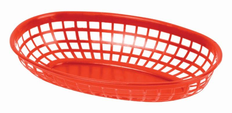 237mm / 9 3/8? Oval Basket, Red