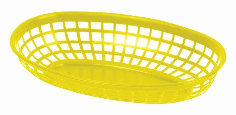 237mm / 9 3/8? Oval Basket, Yellow