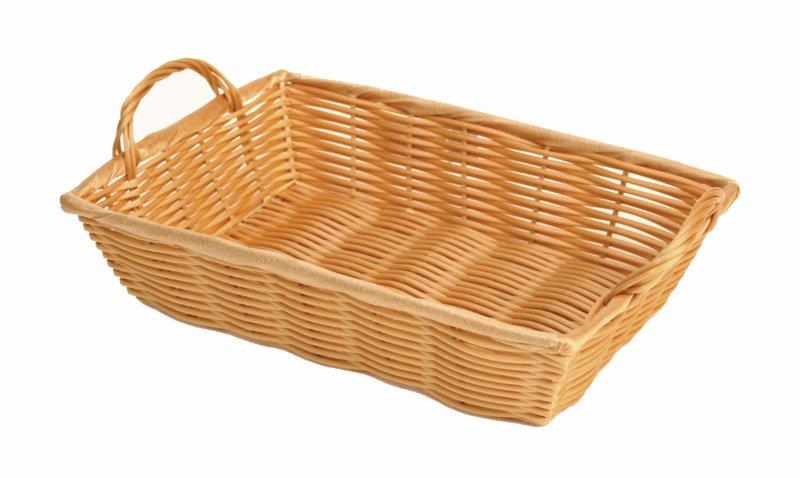 305mm x 203mm x 76mm / 12? x 8? x 3? Hand-Woven Basket w/ Handle, Plastic