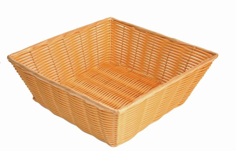 330mm x 330mm x 114mm / 13? x 13? x 4 1/2? Hand-Woven Basket, Square, Plastic
