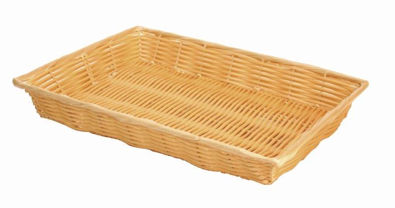 406mm x 279mm x 76mm / 16? x 11? x 3? Hand-Woven Basket w/ Handle, Plastic