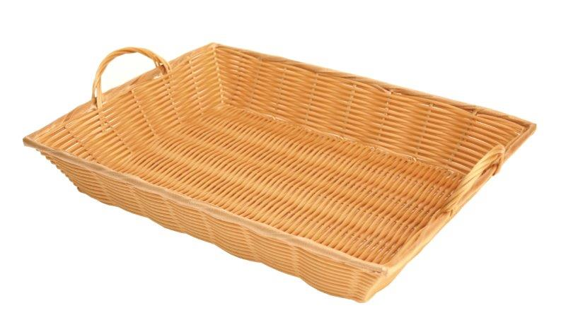 432mm x 324mm x 76mm / 17? x 12 3/4? x 3? Hand-Woven Basket w/ Handle, Plastics