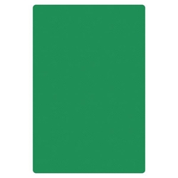 "Green Cutting Board, HDPE, 18"" X 12"" X 1/2"" (457mm x 305mm x 13mm)"