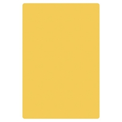 "Yellow Cutting Board, HDPE, 18"" X 12"" X 1/2"" (457mm x 305mm x 13mm)"