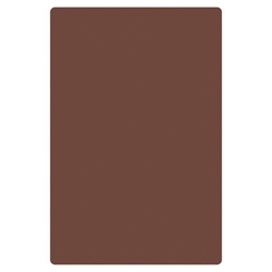 24? X 18? X 1/2? (610mm x 457mm x 13mm) Cutting Board, HDPE, Brown