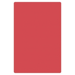 24? X 18? X 1/2? (610mm x 457mm x 13mm) Cutting Board, HDPE, Red