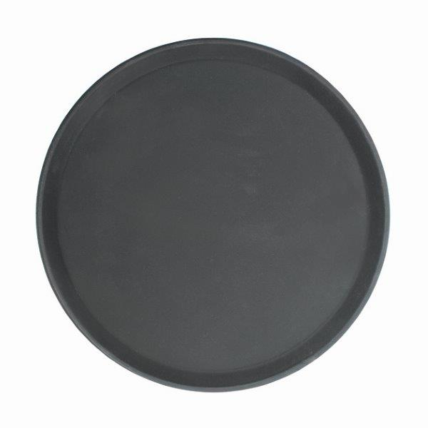 "279mm / 11"" Round Fiberglass Tray, Black"