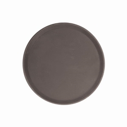 279mm / 11? Round Fiberglass Tray, Brown