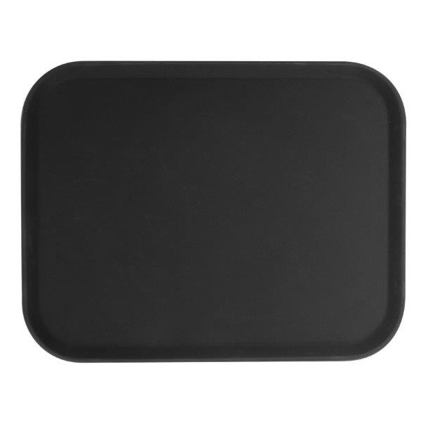 356mm x 457mm / 14? X 18? Rectangular Tray, Black, Fiberglass
