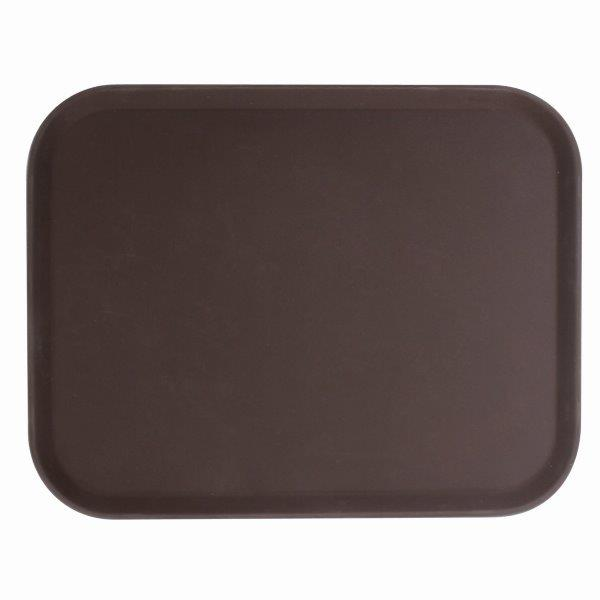 356mm x 457mm / 14? X 18? Rectangular Tray, Brown, Fiberglass