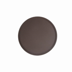 406mm / 16? Round Fiberglass Tray, Brown