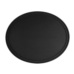 559mm x 686mm / 22? x 27? Oval Tray, Black, Fiberglass