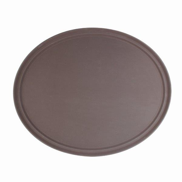 559mm x 686mm / 22? x 27? Oval Tray, Brown, Fiberglass